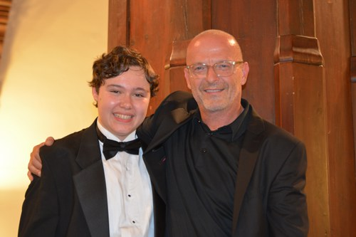 Christian Jost (Composer in Residence 2016) with the winner of the Composition Price 2016 Benjamin P. Wenzelberg