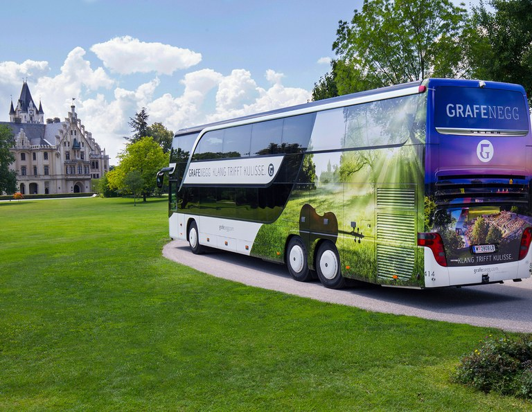 Book your bus transfer with us and travel in comfort from Vienna to Grafenegg and back. Online bookings available up to 10 days before the concert.